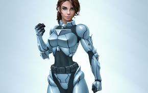 armor, girl
