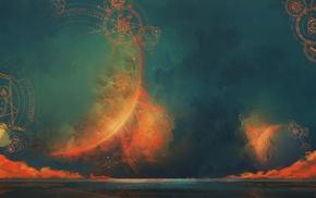 sky, magic circle