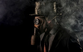 tie, vintage, shirt, smoke, gas masks, suits