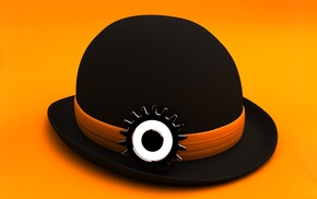 A Clockwork Orange, digital art, Stanley Kubrick, minimalism, 3D, simple background
