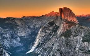 mountains, valley, El Capitan, Yosemite National Park