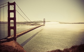 Golden Gate Bridge, photography, San Francisco, Pacific Ocean, architecture, sea