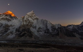 nature, sky, Mount Everest, stars