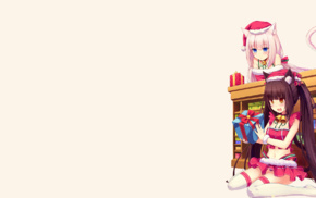 skirt, Neko Para, red skirt, Chocolat Neko Para, long hair, anime