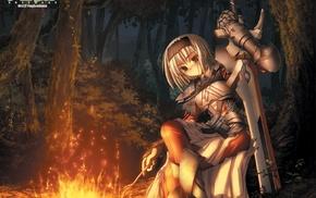 sword, Primitive Link, anime, Sione, knight, armor
