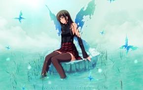 wings, Shirakawa Ayane, thigh, highs, visual novel, torn clothes