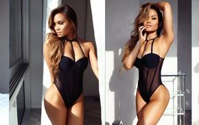 girl, collage, Daphne Joy, model, Asian