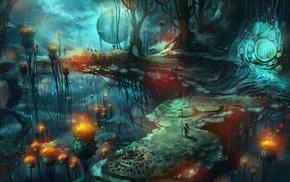 mushroom, magic mushrooms, fantasy art