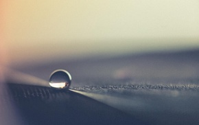 water drops, closeup