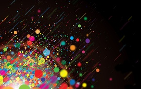 colorful, abstract, dots