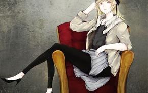 Monogatari Series, Oshino Shinobu, anime girls, anime, helmet