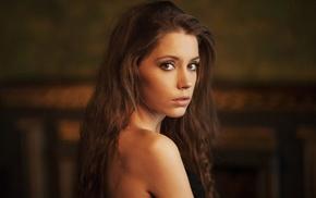 brunette, Ksenia Kokoreva, face, model, girl, Maxim Maximov