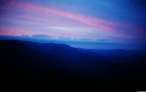 landscape, mountains, blue, ridges