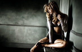 model, heels, underwear, Doutzen Kroes