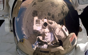 reflection, astronaut, space, camera, photography, space suit