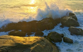 sea, waves, rock, photography, nature, Sri Lanka