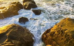 Sri Lanka, nature, rock, photography, beach, waves