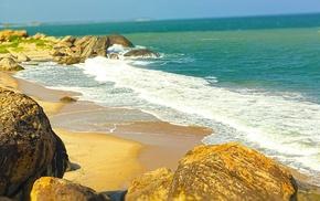 Sri Lanka, beach, photography, waves, nature, sea
