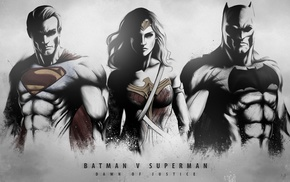 Superman, Batman v Superman Dawn of Justice, Wonder Woman, Batman
