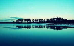 photography, water, blue, lake, landscape