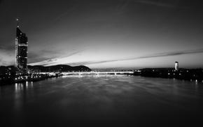 Vienna, river, cityscape, bridge, photography, urban
