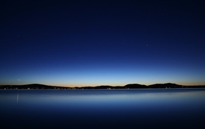 blue, dusk, water, lake, photography, evening