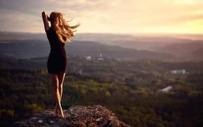 girl outdoors, model, landscape, rock, girl