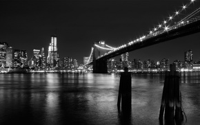 water, photography, Brooklyn Bridge, cityscape, New York City, bridge
