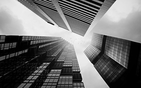city, building, photography, sky, skyscraper, monochrome
