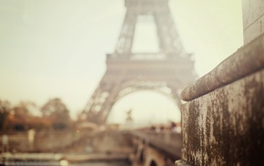 Paris, depth of field, photography, architecture, city, Eiffel Tower