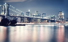 bridge, architecture, city, reflection, photography, Brooklyn Bridge