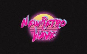 vintage, neon, New Retro Wave, synthwave, retro games, 1980s