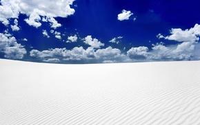 white, snow, desert