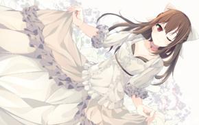 dress, anime, Togawa Mayu, anime girls, brunette, Koi Suru Kanojo no Bukiyou na Butai