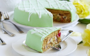 green, dessert, cake, food, fondant, icing