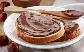 hazelnut, chocolate, Nutella, food