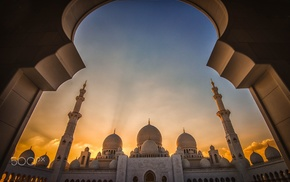 Abu Dhabi, photography, mosque, Islam