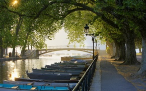 river, canal, water, landscape, photography, boat