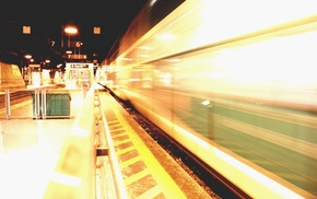 urban, photography, train station, night, long exposure, street