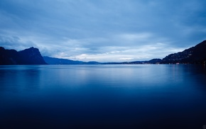 blue, water, landscape, Switzerland, lake, photography