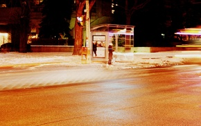 bus stations, street, city, urban, photography, night