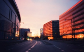 street, building, blurred, architecture, photography, city