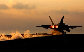 United States Navy, aircraft carrier, photography, McDonnell Douglas FA, 18 Hornet, jet fighter
