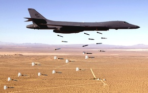 desert, military aircraft, US Air Force, aircraft, bombs, Bomber