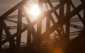 architecture, bridge, Sydney, urban, Sydney Harbour Bridge, Sun
