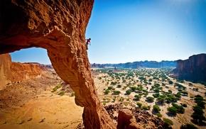landscape, nature, rock climbing, desert, climbing, rock formation