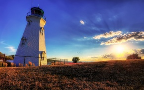 landscape, HDR, lighthouse, photography, nature