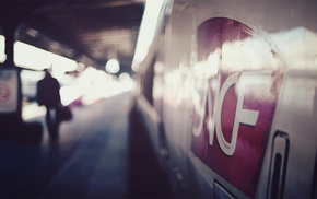 photography, depth of field, SNCF, train station, train, TGV