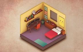 isometric, bedroom