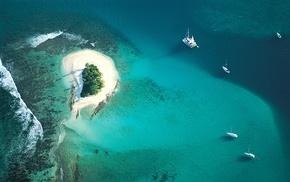 photography, sea, nature, island, boat, water